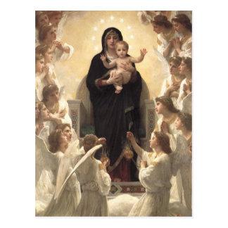 Viktorianische Engel, Regina Angelorum durch Postkarte