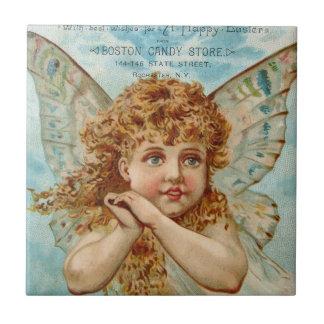 Viktorianische Engels-Boston-Süßigkeits-Speicher-S Kleine Quadratische Fliese