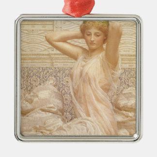 Viktorianische feine Kunst, Silber durch Albert Quadratisches Silberfarbenes Ornament