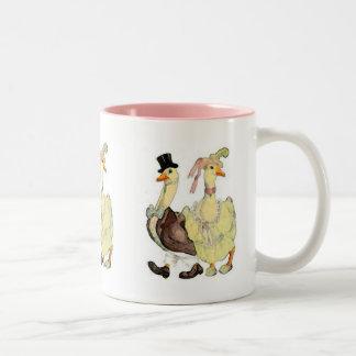 Viktorianische Gans-Tasse Zweifarbige Tasse