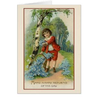 Viktorianische Geburtstags-Gruß-Karte Grußkarte