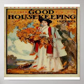 Viktorianische gute Haushaltungs-Zeitschrift 1905  Poster