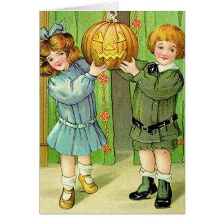 Viktorianische Halloween-Gruß-Karte Karte