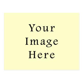 Viktorianische hellgelbe FarbTrend-Raum-Schablone Postkarte