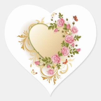 Viktorianische Herz-Aufkleber