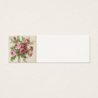 Viktorianische Hochzeits-Platz-Einstellungs-Karten Mini Visitenkarte