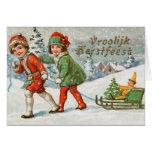Viktorianische Holländer Vroolijk Kerstfeest Karte