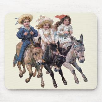 Viktorianische Kinder und Pferde Mousepad