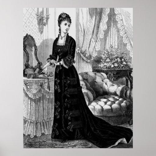 viktorianische kleidung poster zazzle. Black Bedroom Furniture Sets. Home Design Ideas
