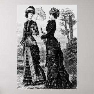 stylische viktorianische mode kunst poster. Black Bedroom Furniture Sets. Home Design Ideas