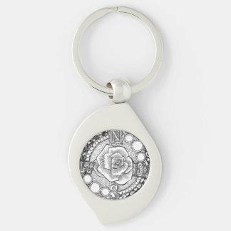 Viktorianische Kompass-Rose Schlüsselanhänger
