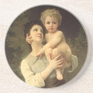 Viktorianische Kunst, Bruder und Schwester durch Getränkeuntersetzer