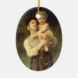 Viktorianische Kunst, Bruder und Schwester durch Keramik Ornament
