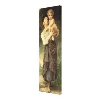 Viktorianische Kunst, Bruder und Schwester durch Leinwanddruck