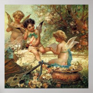 Viktorianische Kunst, Musiker-Engel durch Hans Poster