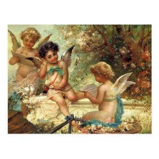 Viktorianische Kunst, Musiker-Engel durch Hans Postkarte