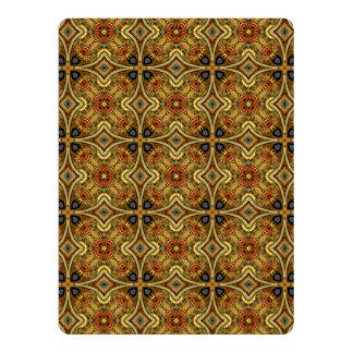 Viktorianische Kunst Nouveau mittelalterliches 16,5 X 22,2 Cm Einladungskarte