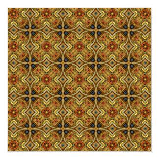 Viktorianische Kunst Nouveau mittelalterliches Quadratische 13,3 Cm Einladungskarte