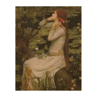 Viktorianische Kunst, Ophelia durch den Teich Holzwanddeko