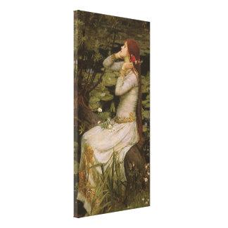 Viktorianische Kunst, Ophelia durch den Teich Leinwanddruck