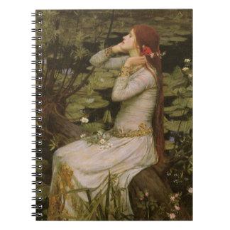 Viktorianische Kunst, Ophelia durch den Teich Notizblock