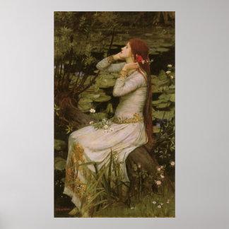 Viktorianische Kunst, Ophelia durch den Teich Poster