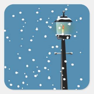 Viktorianische Lamplight-Weihnachtsjahreszeit-Aufk