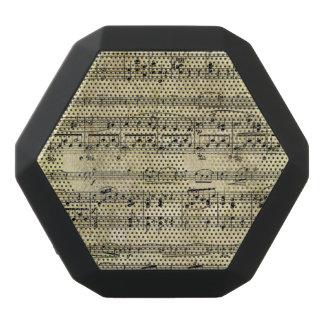 Viktorianische Musik-Blatt-Tapete Schwarze Bluetooth Lautsprecher