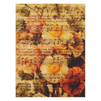 Viktorianische Musik-Blattwatercolor-Blumen-Tapete Tischdecke