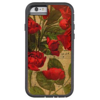 Viktorianische Musik-Blattwatercolor-Rosen-Tapete Tough Xtreme iPhone 6 Hülle