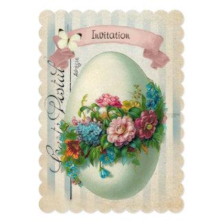 Viktorianische Ostern-Blumen-Ei-Osterei-Jagd Karte