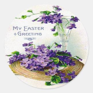 Viktorianische Ostern-Eintagsfliegen Runder Aufkleber