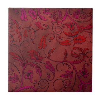 Viktorianische Rebe-rote Spitze-Keramik-Fliese Kleine Quadratische Fliese