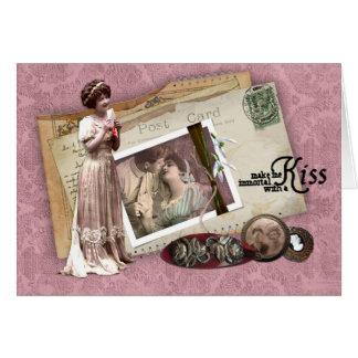 Viktorianische romantische Liebe-Buchstaben Karte