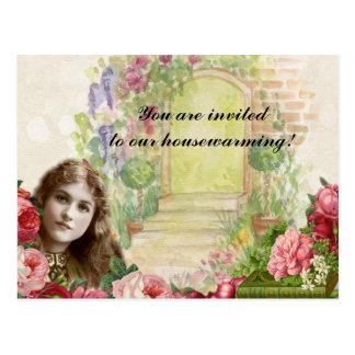 Viktorianische romantische Painterly Postkarte