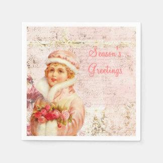 Viktorianische rosa Papierservietten
