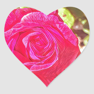 Viktorianische Rose Herz Sticker