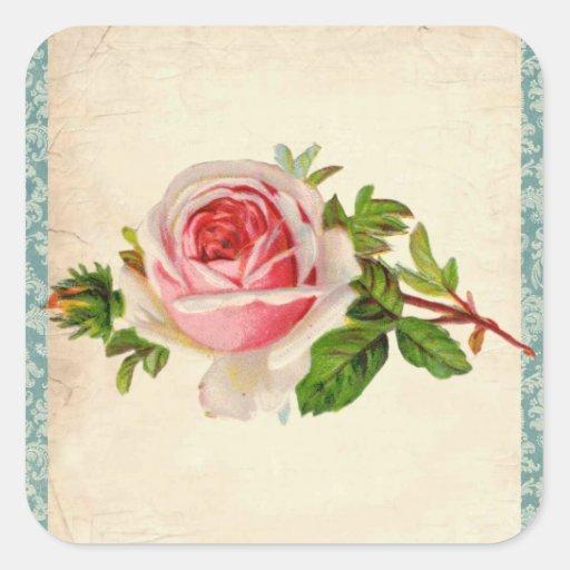 Viktorianische Rose und Damast Sticker