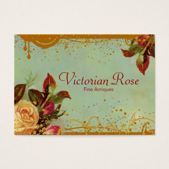Viktorianische Rosen-elegante Geschäfts-Karten Jumbo-Visitenkarten