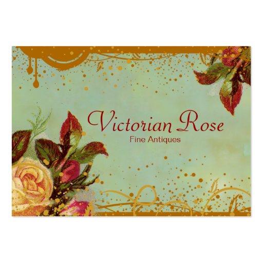 Viktorianische Rosen-elegante Geschäfts-Karten Visitenkarten