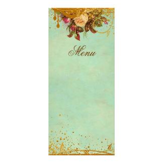 Viktorianische Rosen-elegante Menü-Karte 12,2 X 22,9 Cm Kartendruck