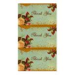 Viktorianische Rosen-elegante Minikarten-Umbauten Visitenkarte