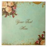 Viktorianische Rosen-personalisierte Kunst-Fliese