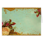 Viktorianische Rosen-Raum-Mitteilungskarten Grußkarte