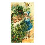 Viktorianische Sankt- u. Feen-Minigrüße oder Visitenkarten