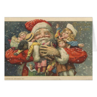 Viktorianische Sankt-Weihnachtskarte Karte