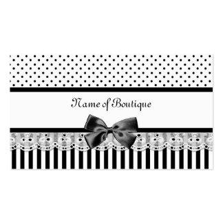 Viktorianische Schwarzweiss-Streifen mit Band