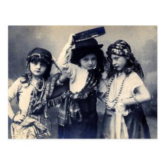 Viktorianische Sinti und Roma-Kinderpostkarte Postkarte