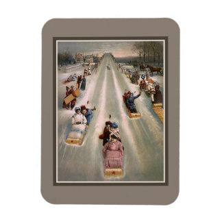 Viktorianische Sleighschlittenwerbung Magnet