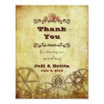 Viktorianische Steampunk Hochzeit danken Ihnen v.2 Einladungen